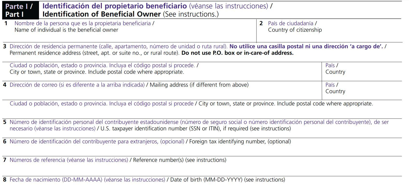formulario w8